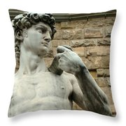 Michelangelo's David 1 Throw Pillow