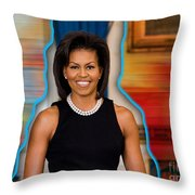Michelle Obama Throw Pillow