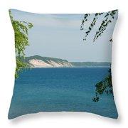 Michigan Bluffs Throw Pillow