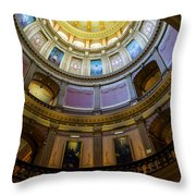 Michigan Capitol Dome Throw Pillow
