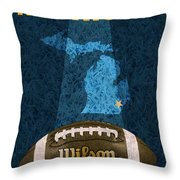 Michigan Football Poster Throw Pillow