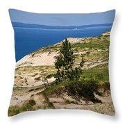 Michigan Sleeping Bear Dunes Throw Pillow