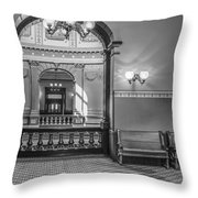 Michigan State Capitol 4th Floor Throw Pillow
