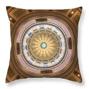 Michigan State Capital Dome Throw Pillow