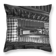 Michigan State Capital Stairwell Throw Pillow