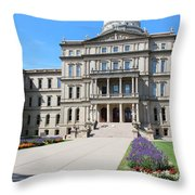 Michigan State Capital Throw Pillow