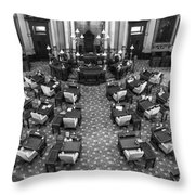 Michigan State House At Capitol  Throw Pillow