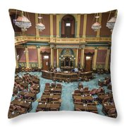 Michigan State Senate From Above  Throw Pillow