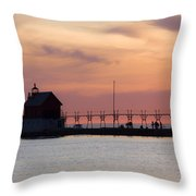 Michigan Sunset Throw Pillow