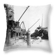 Michigan Tunnel, 1907 Throw Pillow
