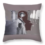 Michoacan Lady Mexican Fighter 1921-2014.  Throw Pillow