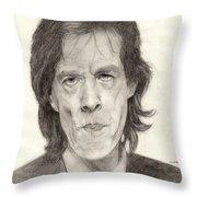 Mick Jagger 2 Throw Pillow