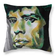 Mick Jagger Throw Pillow by Chrisann Ellis