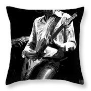 Mick 1977 Art Bw Throw Pillow