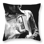Mick In Spokane 1977 Throw Pillow