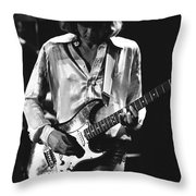 Mick On Guitar 1977 Throw Pillow