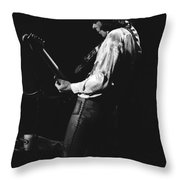 Mick On The Guitar 1977 Throw Pillow
