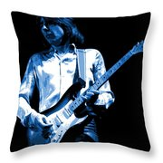 Mick Plays The Blues 1977 Throw Pillow