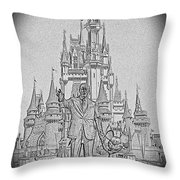 Mickey And Walt At The Park Throw Pillow