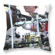 Mickey Hart Band Throw Pillow