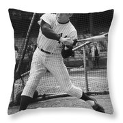 Mickey Mantle Poster Throw Pillow
