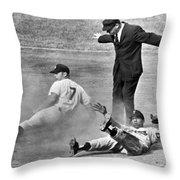 Mickey Mantle Steals Second Throw Pillow