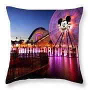 Mickey's Water Wheel Throw Pillow
