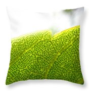 Micro Leaf Throw Pillow