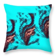 Micro Linear 35 Throw Pillow