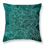 Microbe Maybe Throw Pillow