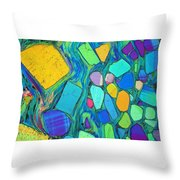 Art And Geology Throw Pillow