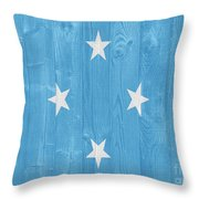 Micronesia Flag Throw Pillow