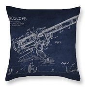 Microscope Patent Drawing From 1915 Throw Pillow