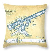 Microscope Patent Drawing From 1915 - Vintage Paper Throw Pillow