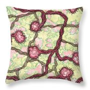 Microscopic Throw Pillow