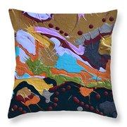 Microscopic Life Throw Pillow