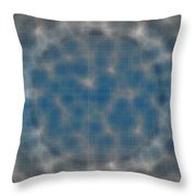 Microscopic Scale - Blue Throw Pillow
