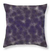 Microscopic Scale - Purple  Throw Pillow