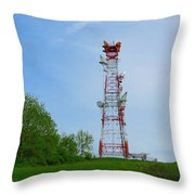 Microwave Tower Throw Pillow