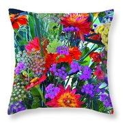Mid August Bouquet Throw Pillow