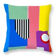Mid Century Compromise Throw Pillow