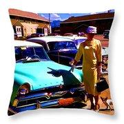 Mid Century In Alaska Throw Pillow