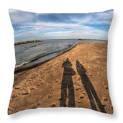 Mid Dec Day At The Beach...who Can Argue At Presque Isle State Park Series Throw Pillow