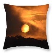 Mid-july Sunrise Throw Pillow