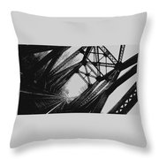 Mid Span  In Black And White Throw Pillow