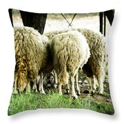 Midday Meeting At The Office  Throw Pillow