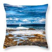 Midday Sail Throw Pillow