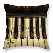 Middle C Throw Pillow