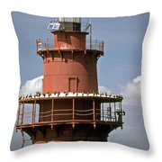 Middle Ground Lighthouse Throw Pillow