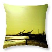 Middle Harbor Shoreline Park Throw Pillow